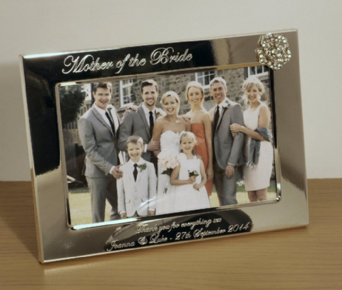 Crystal Rose Photo Frame Personalised Mother of the Bride Gift (ls)